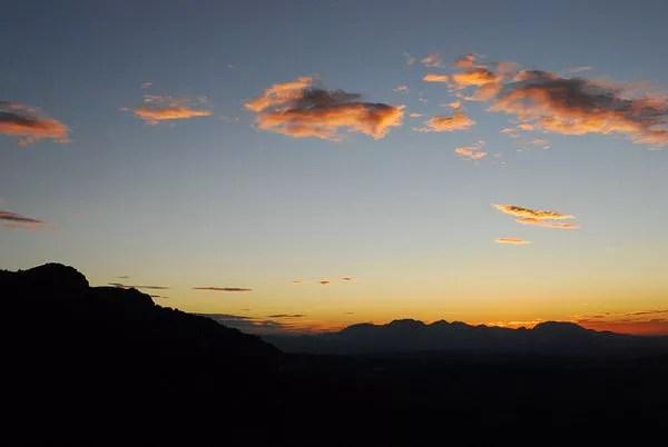 Puesta de sol desde la Sierra de Cazorla