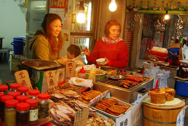 Puesto del mercado de Tai O