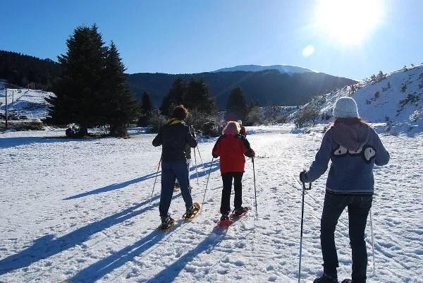 Raquetas de nieve en La Payolle