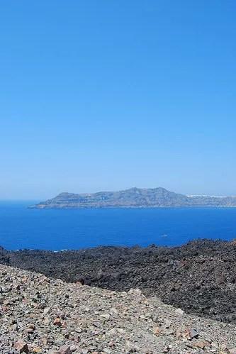 Santorini visto desde Nea Kameni
