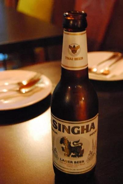 Singha, cerveza de Tailandia