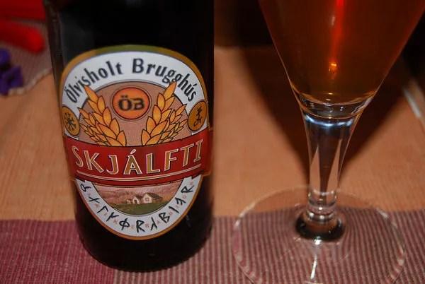 Skjálfti, cerveza islandesa
