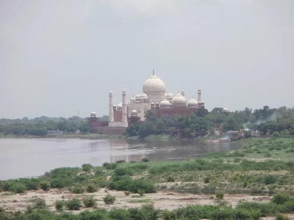Taj Mahal desde el Agra Fort