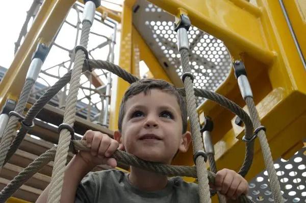 Teo en el Playmobil Funpark