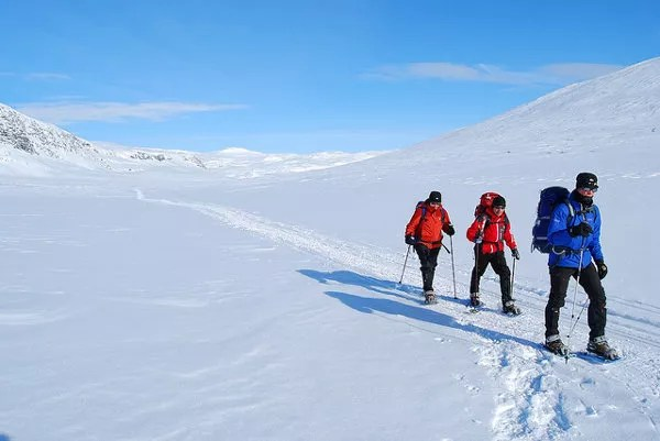 Travesía con raquetas de nieve por Laponia Sueca