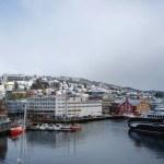 Tromsø desde la ventana del hotel
