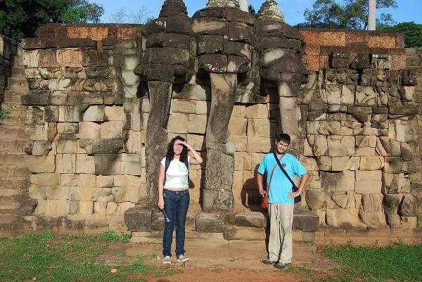Vero i Pau en la Terraza de los Elefantes