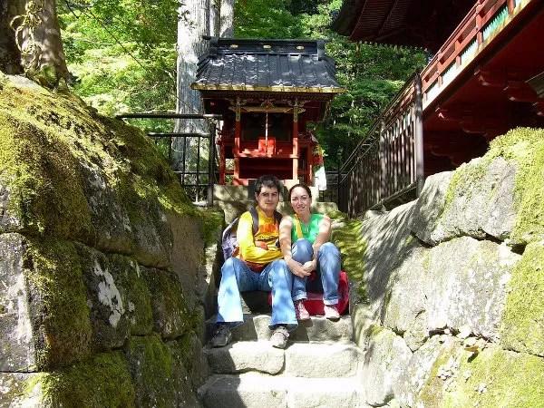 Vero y Pau en Nikko