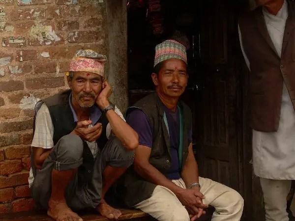 Viendo el tiempo pasar en Khokana