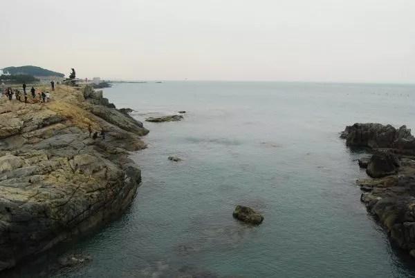 Vistas al mar en el Templo Haedong Yonggungsa de Busan