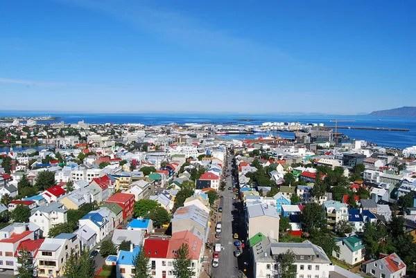 Vistas de de Reykjavík desde la Hallgrímskirkja