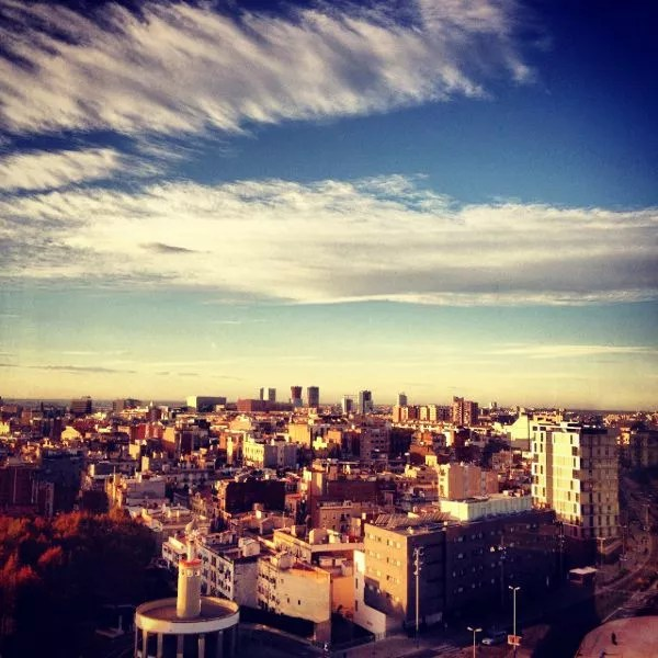 Vistas desde la séptima planta del Hotel Barceló Sants en Barcelona