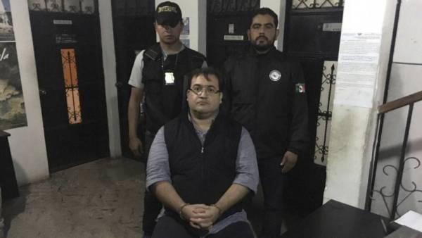 Resultado de imagen para detención de javier duarte en guatemala