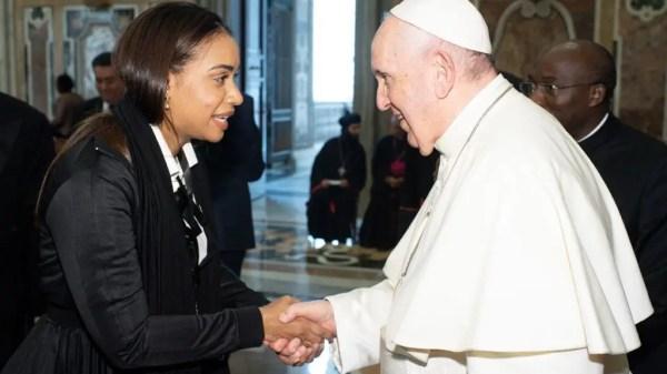 Betty Gerónimo y el Papa Francisco