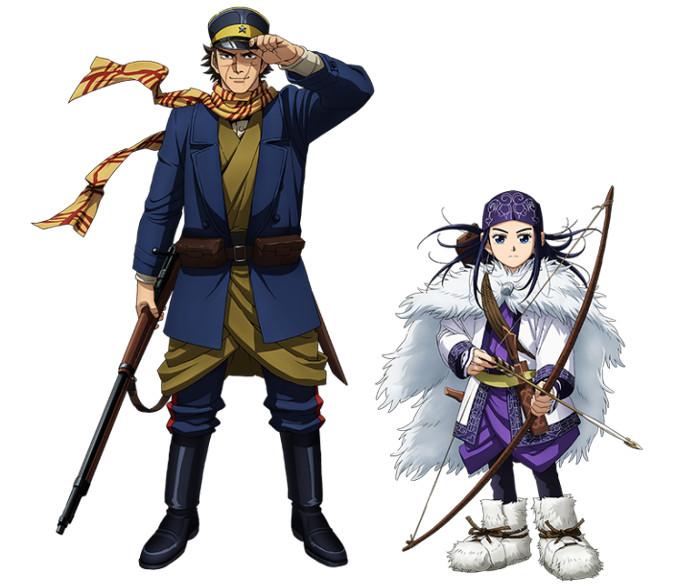 Imagen promocional y reparto del anime Golden Kamuy personajes - el palomitron