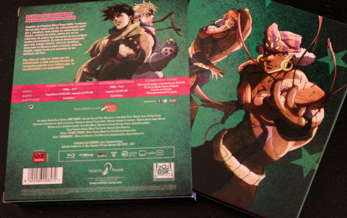 edición coleccionista de JoJo's Battle Tendency, de Selecta Visión packaging 3 - el palomitron