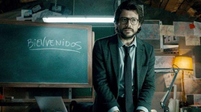 La Casa de Papel El Profesor Álvaro Morte El Palomitrón