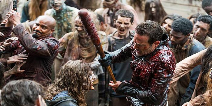 Negan, Gabriel y zombis The Waling Dead El Palomitrón
