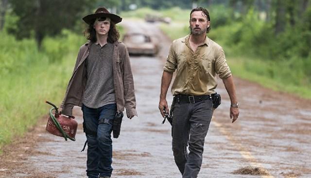 Rick y Carl The Walking Dead El Palomitrón