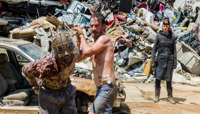 Rick en calzoncillos The Walking Dead El Palomitrón