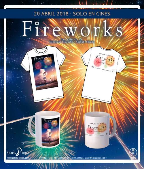 Sorteo de merchandising Fireworks (taza + camiseta) + DVD Your Name pack1 - el palomitron