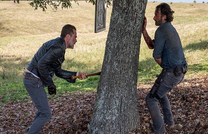Rick y Negan The Walking Dead El Palomitrón
