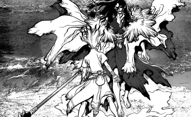 Reseña de Dr. Stone #1, de Riichiro Inagaki y Boichi villano - el palomitron