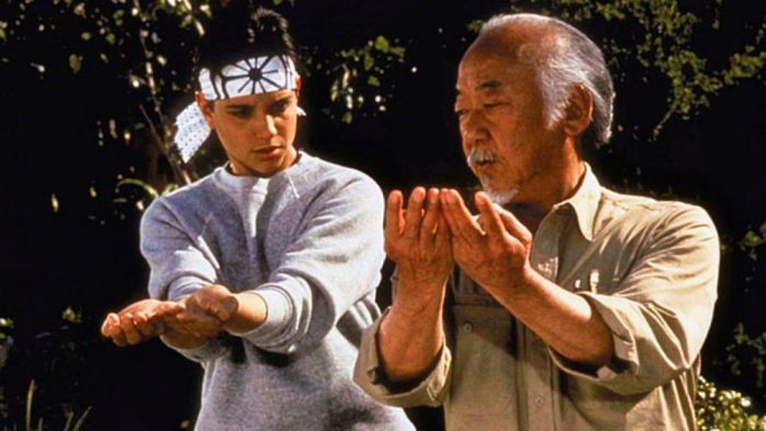 karate kid ralph macchio pat morita
