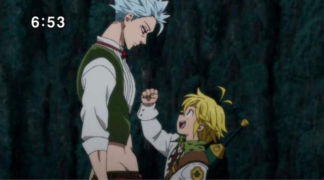 Crítica de Nanatsu no Taizai segunda temporada capítulos 16-20 Ban y Meliodas - el palomitron