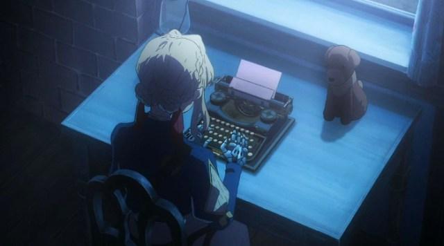 Violet Evergaden 14 (episodio especial) Violet escribiendo la letra - el palomitron