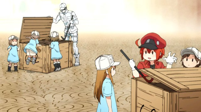 impresiones Cells at Work! (Hataraku Saibou) personajes - el palomitron