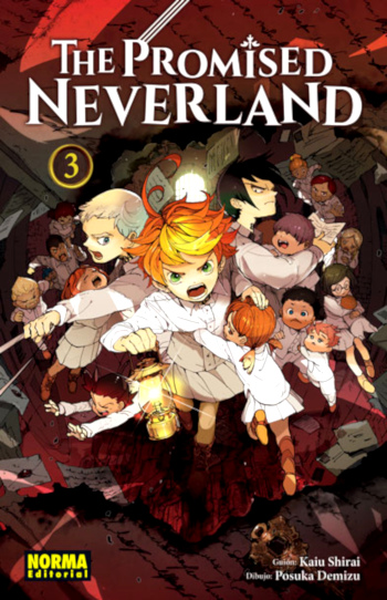 Reseña de The Promised Neverland #3 cubierta manga - el palomitron