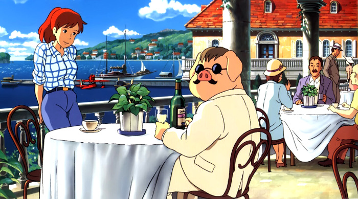 'Biblioteca Studio Ghibli Porco Rosso', de Manu Robles Personajes - El Palomitrón
