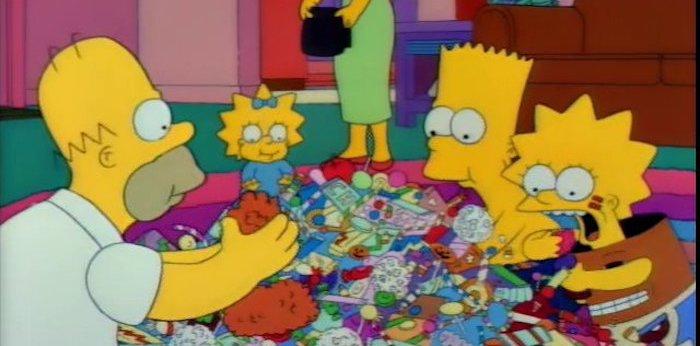 Familia Simpson comiendo dulces especial –Halloween II - El Palomitrón