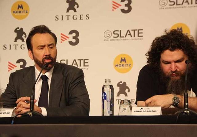 Nicolas Cage y Panos Cosmatos-Sitges 2018- El Palomitrón