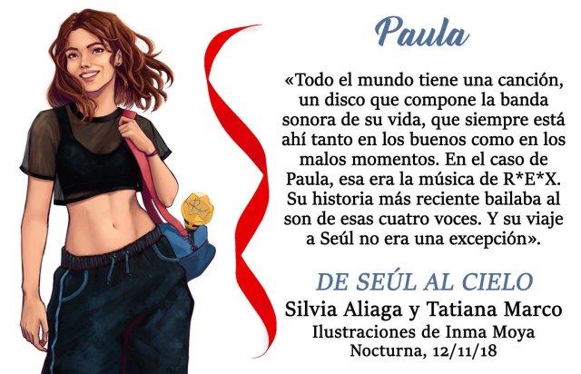 DE SEÚL AL CIELO NOCTURNA PERSONAJE PAULA - EL PALOMITRÓN