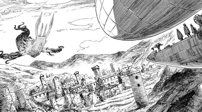 Drifting Dragons #1, de Taku Kuwabara dragón 3 - el palomitron