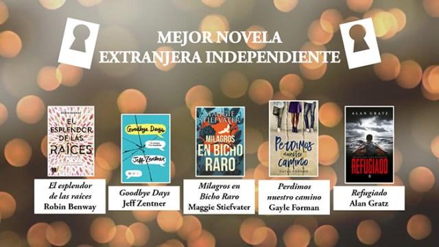 Mejor novela extranjera independiente Premios Templis- El Palomitrón