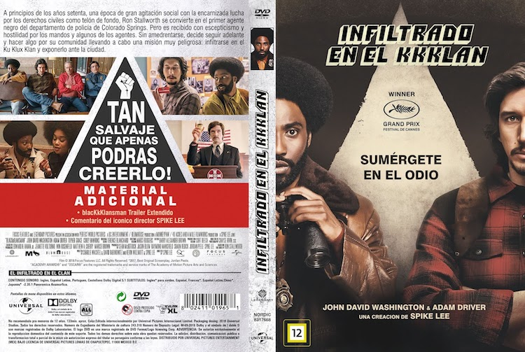 Infiltrado en el KKKlan DVD – El Palomitron portada