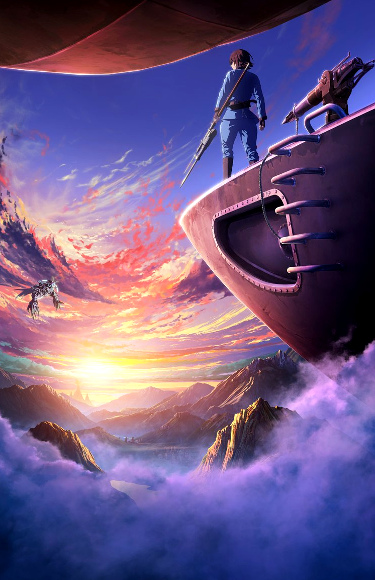 anime de Drifting Dragons cartel anime - el palomitron