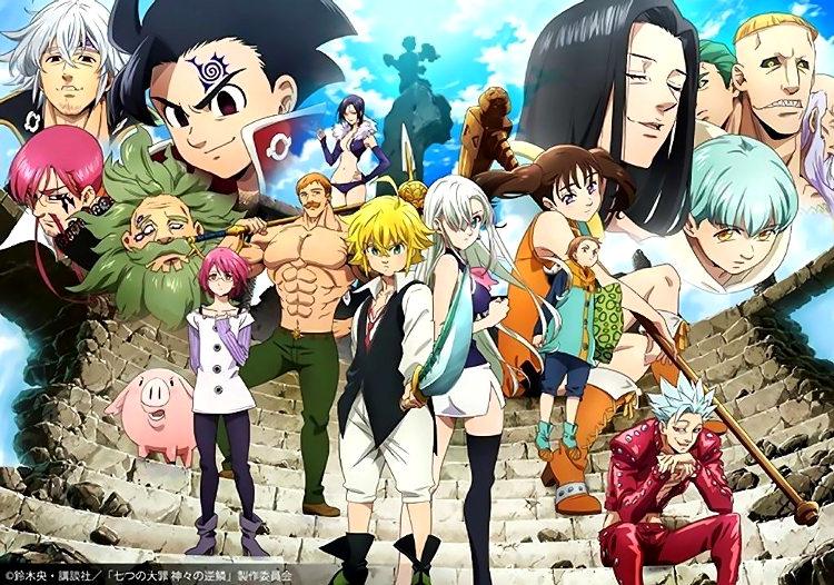 Fecha de estreno y tráiler de la tercera temporada de Nanatsu no Taizai imagen promocional - El Palomitrón