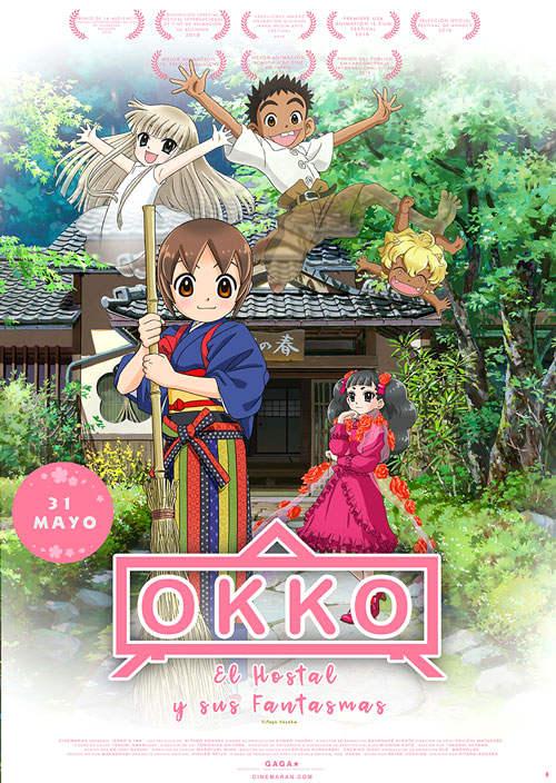 Fecha de estreno y tráiler de Okko, el hotel y sus fantasmas cartel promocional - El Palomitrón