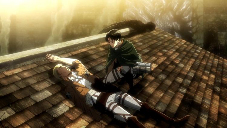 Crítica de Shingeki no Kyojin 3x18 Levi - el palomitron