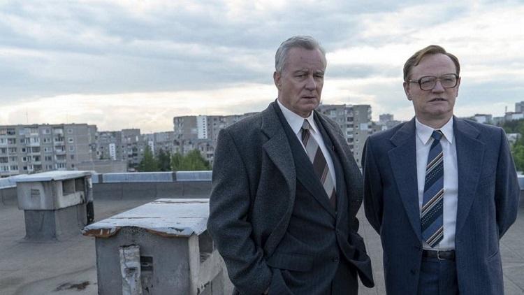 Jared Harrys, Stellan Skarsgård, en el tejado, Chernobyl El Palomitrón