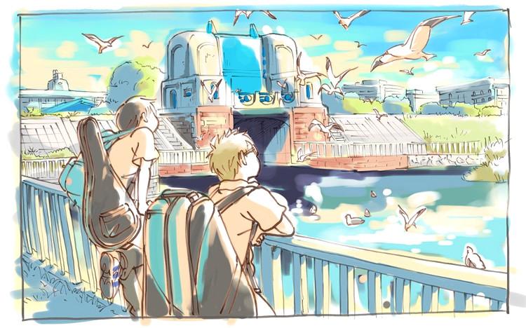 Crítica de Hoshiai no Sora Maki y Touma dibujo - El Palomitrón