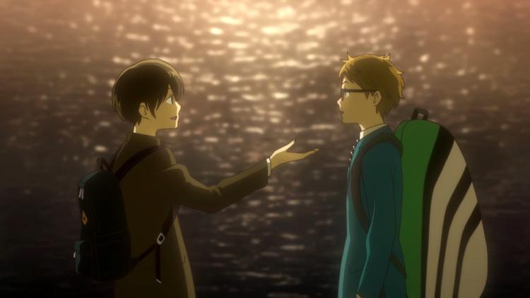 Crítica de Hoshiai no Sora escena 2 - El Palomitrón