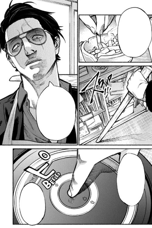 Reseña de Gokushufudo Tatsu el Inmortal roomba VS Tatsu - El Palomitrón