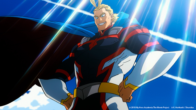 Crítica de My Hero Academia Dos Héroes All Might - El Palomitrón