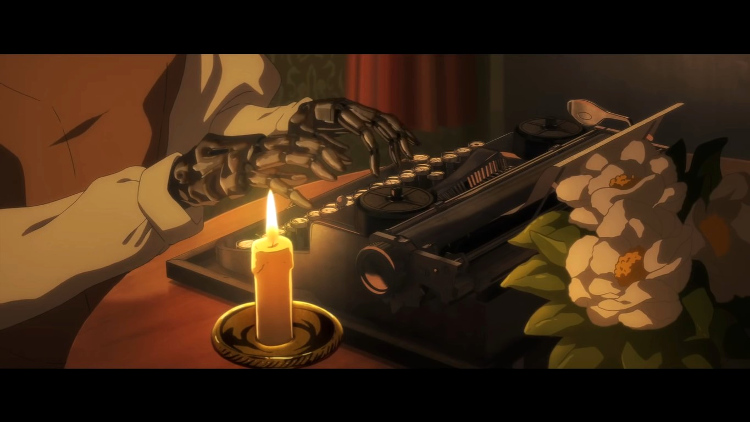 Crítica película Violet Evergarden Gaiden Violet escribiendo - El Palomitrón