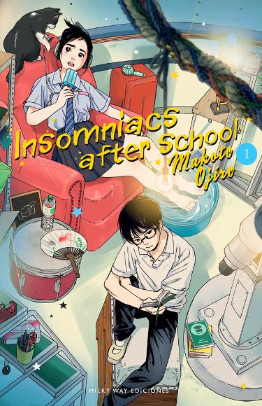 Lanzamientos Milky Way Ediciones abril 2021 insomniacs_after_school - El Palomitrón
